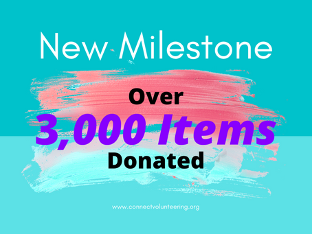 New Milestone! 3,000 Items Donated!