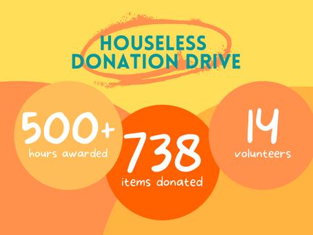 Houseless Donation Drive RECAP