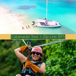 Catamaran Tour + Zip Line