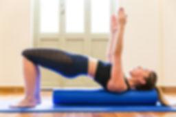 pilates pelvic curl foam roller
