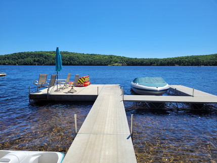 Dock with patio furniture