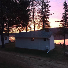 Most of the cabins are overlooking the lake