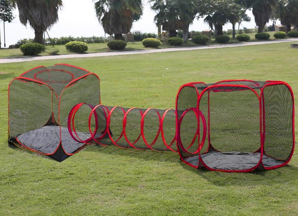 Cat tent enclosure and run. Folding set of 3