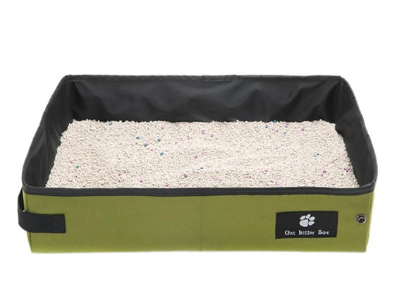Portable cat litter tray