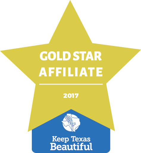 Keep Nacogdoches Beautiful Recognized as Gold Star Affiliate by Keep Texas Beautiful
