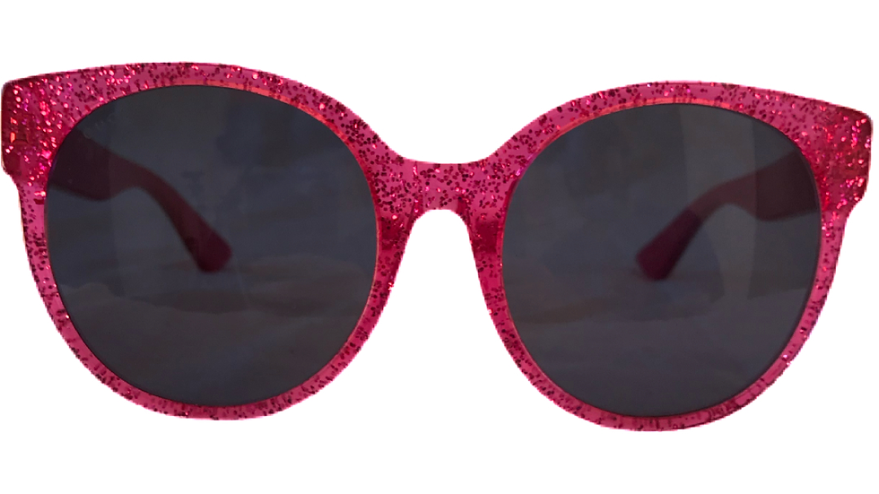 Pink Gucci Sparkle Sunglasses