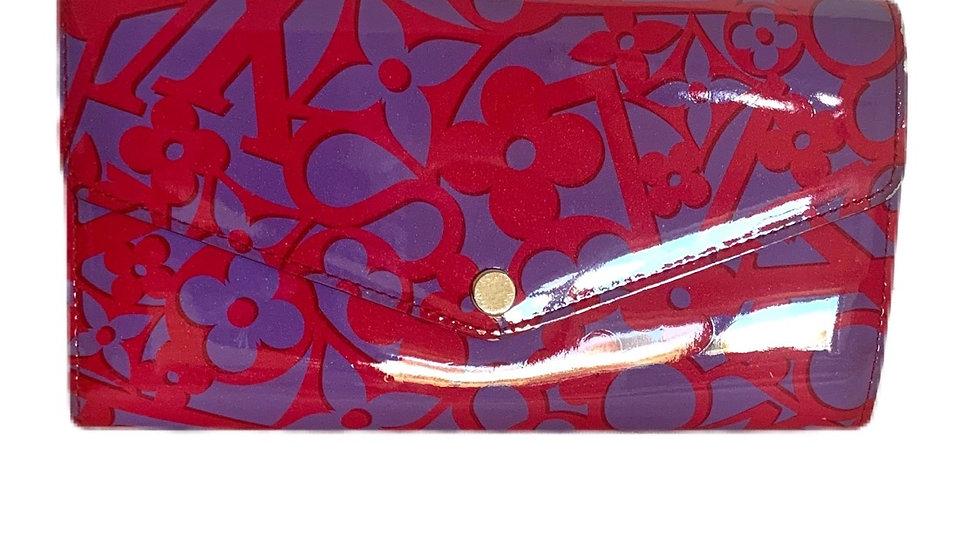 Louis Vuitton Indian Rose Sweet Monogram Vernis Sarah Continental Wallet