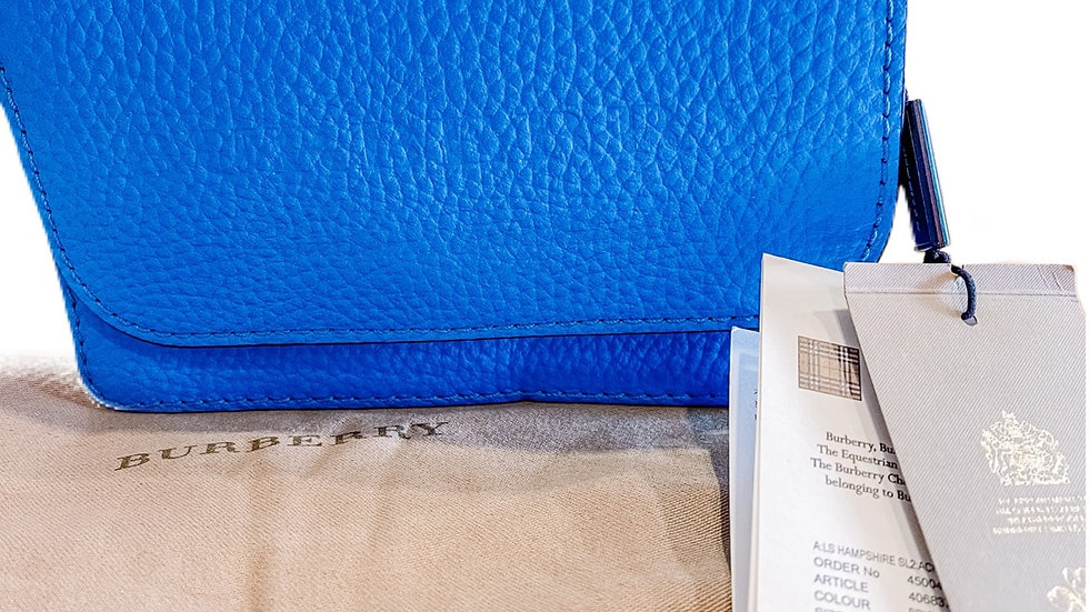 Blue Burberry Wallet on Chain