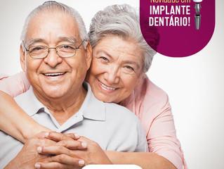 Implante dental para idosos, uma mudança de vida.