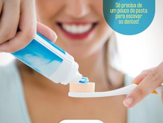Qual a quantidade de pasta ideal para se escovar os dentes?