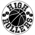 High Rollers Wheelchair Basketball Logo.