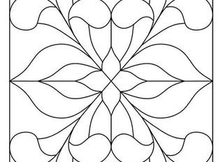 Galería v.2 gratuíta de 15 Plantillas para Vidrieras Artísticas, emplomadas o Tiffany