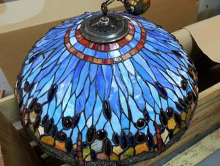 Restauración de una Lámpara Tiffany en el taller de Vidrieras Artísticas Laborda