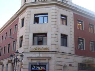 Restauración Vidrieras Artísticas. Edificio Banesto, Palencia. 2008