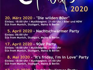 Veranstaltungskalender 2020 @ Cafe Weiß