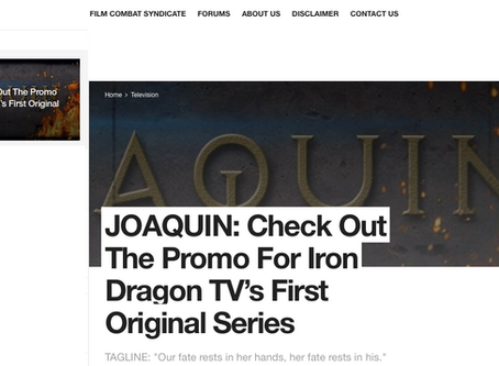 JOAQUIN coming soon to Iron Dragon TV