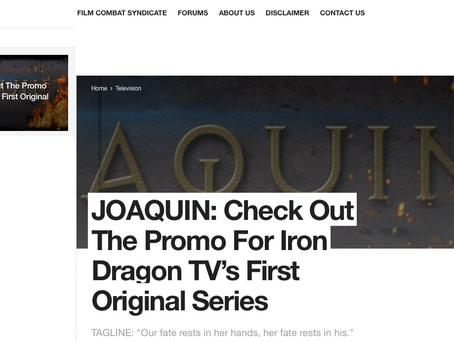 JOAQUIN coming soon to Iron Dragon TV