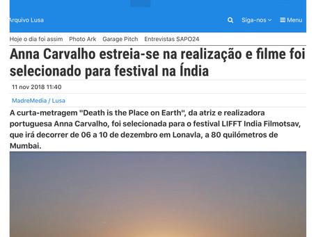 Article for Portuguese LUSA by Ana Rita Guerra