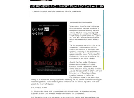 "Review ""Death is the Place on Earth"" - The Independent Critic by Richard Propes"