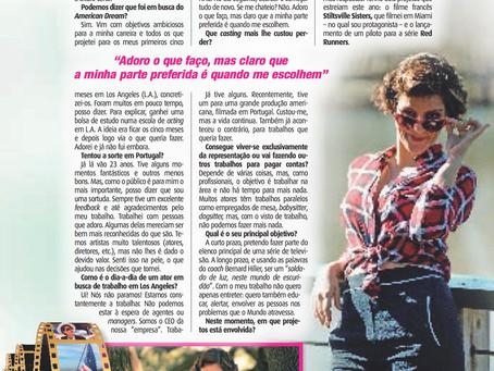 "Interview for the Portuguese Magazine ""Nova Gente"" by Lidia Belourico"