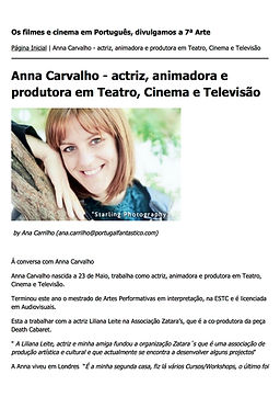 Interview, Portugal Fantástico, Anna Carvalho, Actress, Actores, Cinema