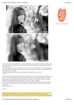 Retratos, Photography, Actors, Anna Carvalho, Doce para o meu Doce, Entrevistas, Blogs