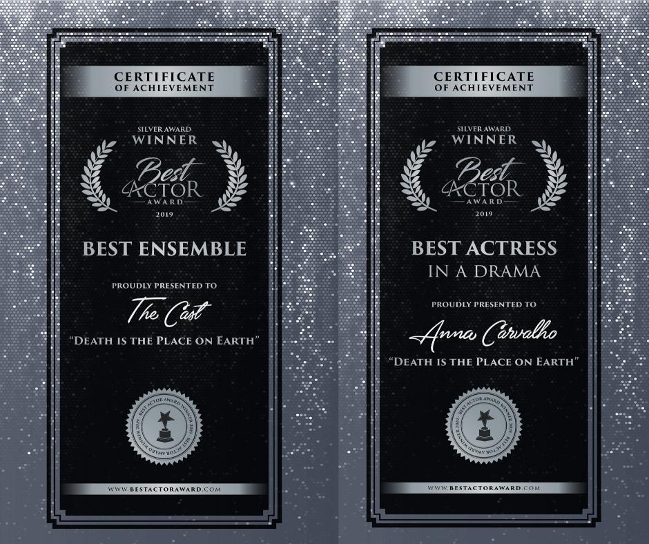 Certificate of Awards