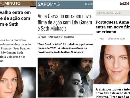 """Press """"PORTUGUESA ANNA CARVALHO ENTRA EM NOVO FILME DE AÇÃO AMERICANO"""""""