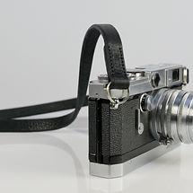 Handmade Slim Black Leaher Camera Strap