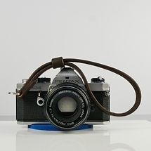 Stitched Handmade Leather Camera Wrist Strap