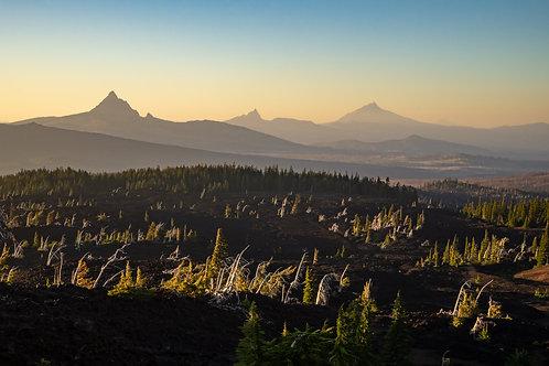 7 Sunset view of Mt Washington, Three Fingered Jack and Mt Jefferson