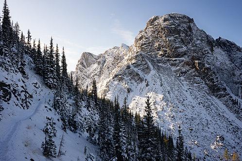 1 Powder mountain in the morning sun