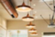 Подвесные латунные лампы