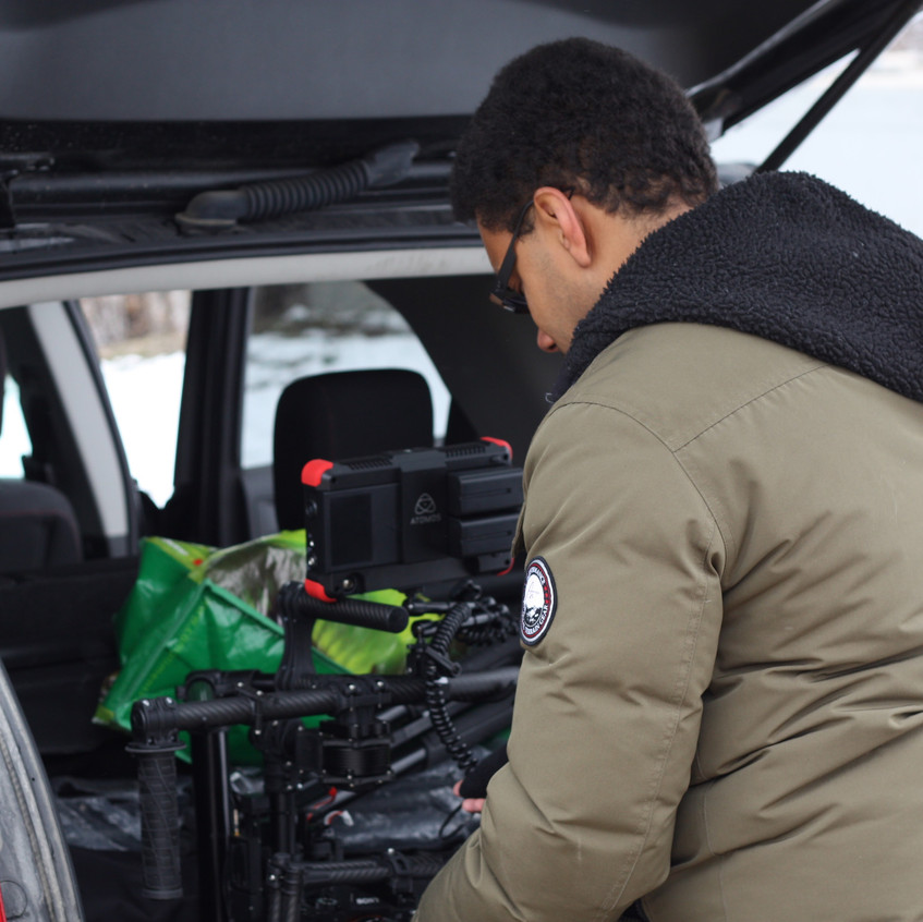Our director and videographer, Jordan Popowich (http://jpmediaworks.com), gets the gear ready.
