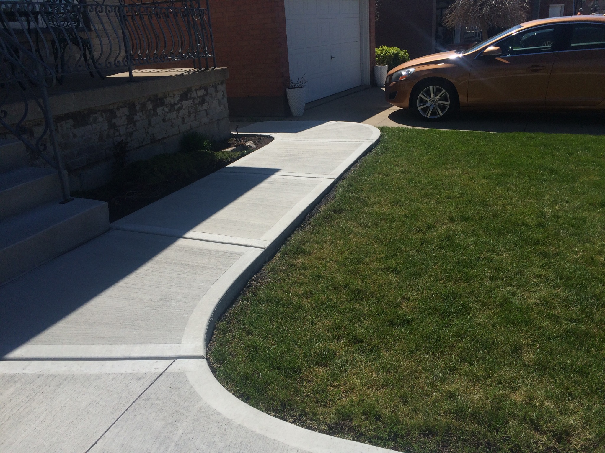 Plain Concrete Sidewalk
