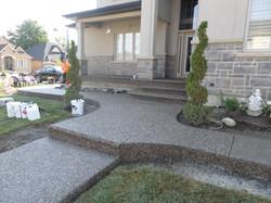 Aggregate Steps, Porch, Sidewalks