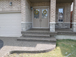Aggregate Steps and Porch