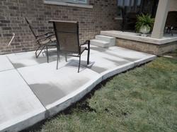 Plain Concrete Patio & Steps