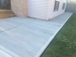 Plain Concrete Patio and Sidewalk