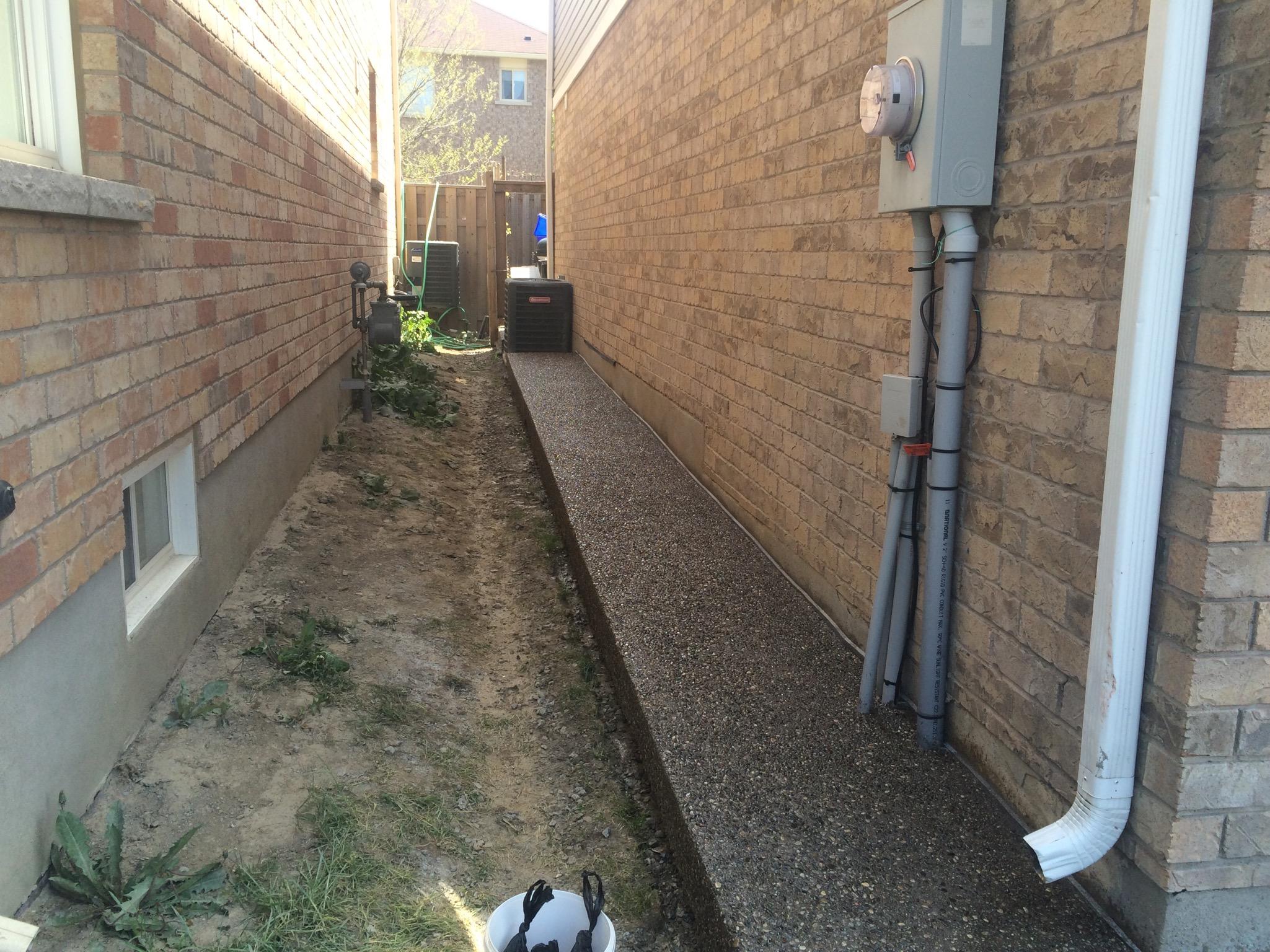 Aggregate Walkway