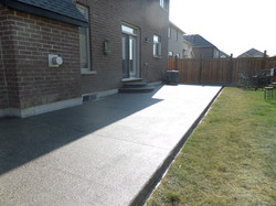Aggregate Patio and Steps