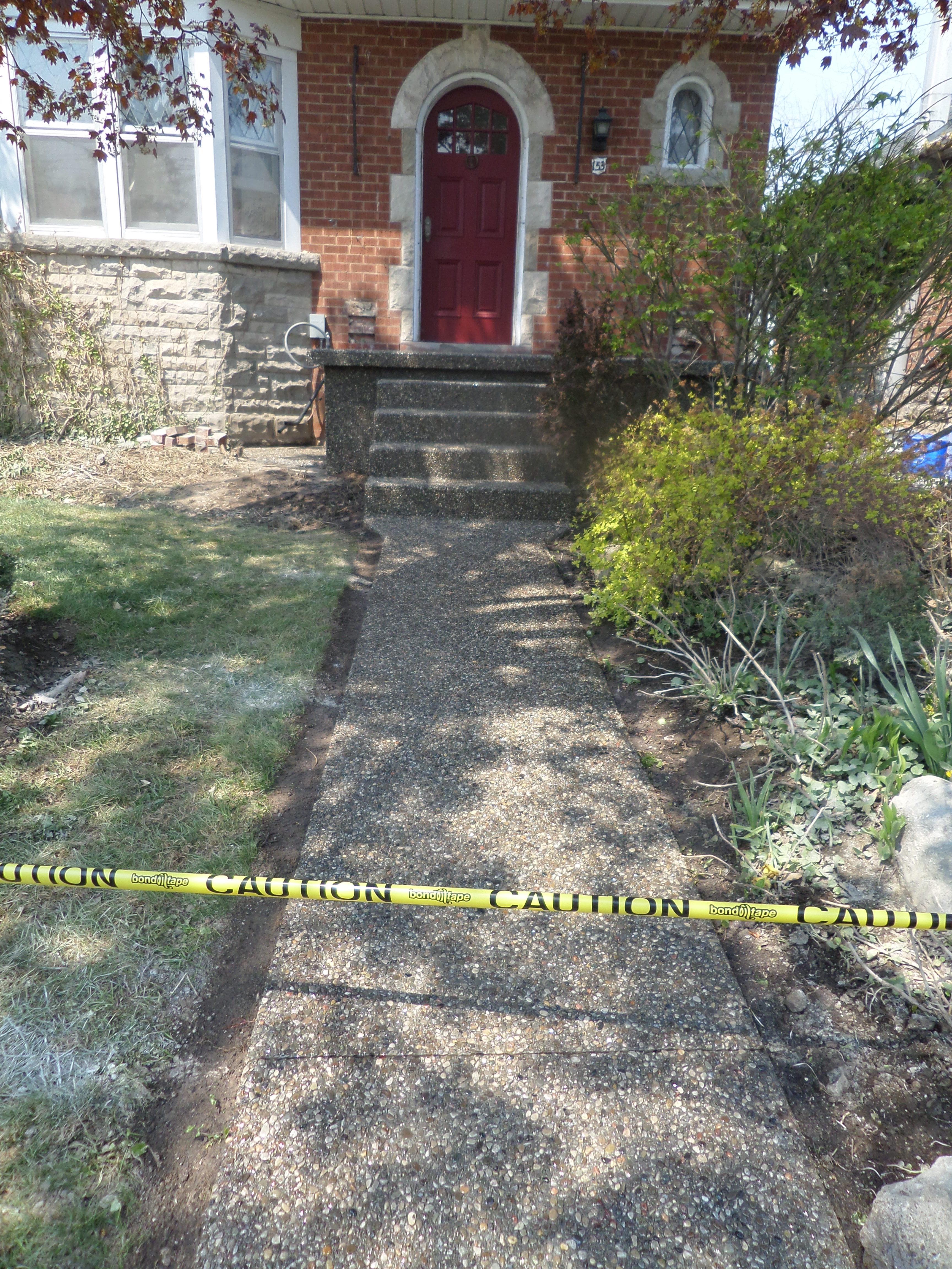 Aggregate Sidewalk & Steps