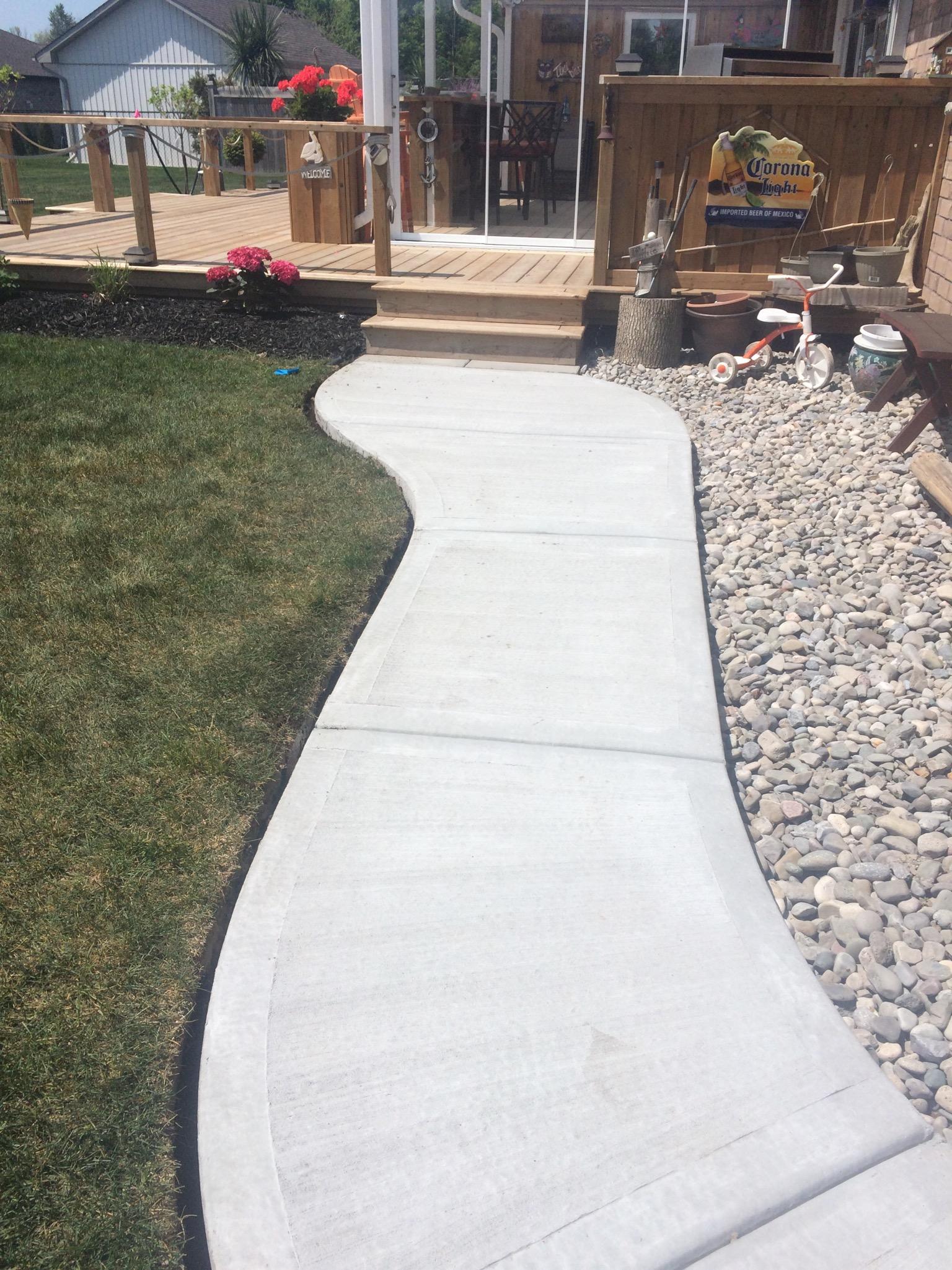 Plain Concrete Walkway