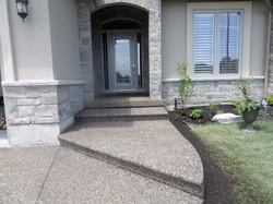 Aggregate Steps & Porch