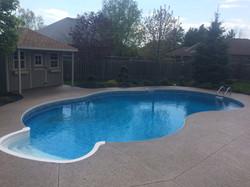 Aggregate Pool Deck