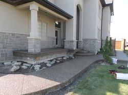 Aggregate Sidewalk & Porch