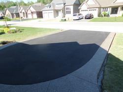 Asphalt Driveway Concrete Curbs