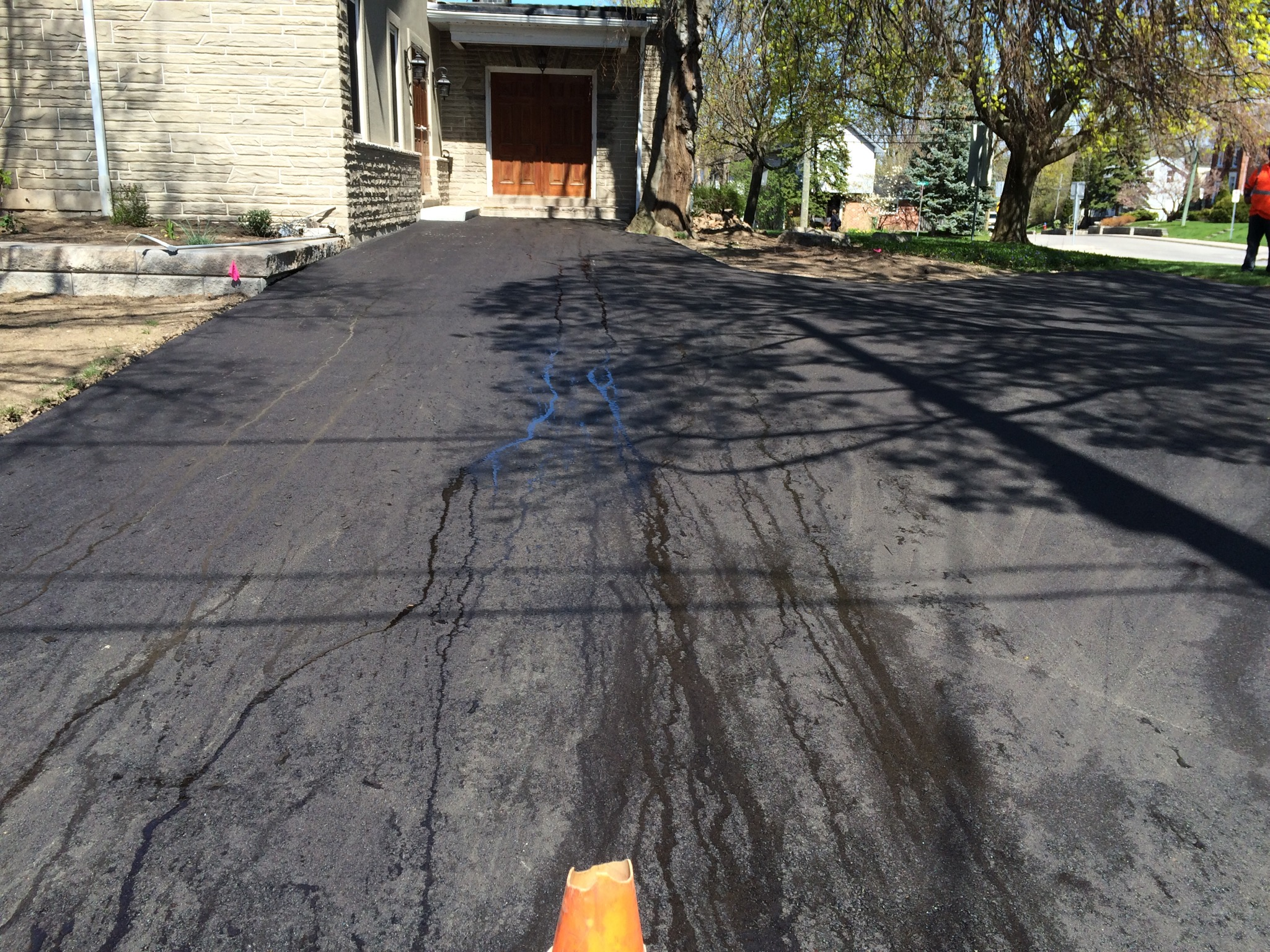Business Entrance Asphalt Lot