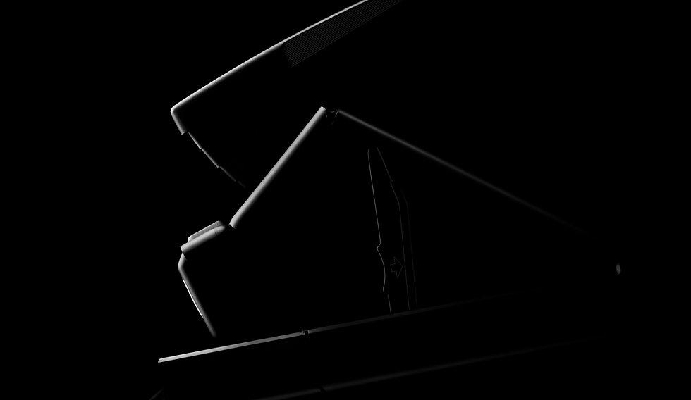 Silhouette einer SX 70 Polaroid Kamera //  Werbung, SEO, Werbefotografie, Fotograf und Fotostudio in Gelsesenkirchen, Webdesign, Mitarbeiterportraits