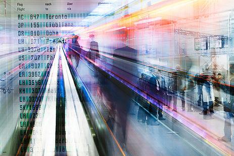 """Illustration für die Anwaltskanzlei """"Maat"""" in München und Frankfurt  Flughafen Terminal Design & Composing: Tania Reinicke"""